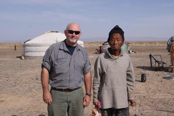 Randy Toelle. Stuck in the South Gobi desert, Mongolia.